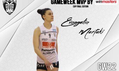 MVP (Cup edition) η Ευαγγελία Μερτέκη