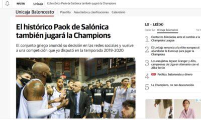 Αποθέωση στην Ισπανία: «Ο ιστορικός ΠΑΟΚ στο BCL»